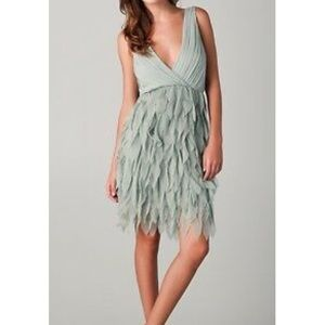 Alice + Olivia Tibby silk petal fringe dress